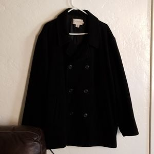 J. CREW Wool Peacoat Black Size XL